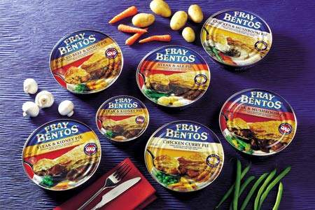 The Fray Bentos range of tinned pies is another well-known brand in the Campbells family.