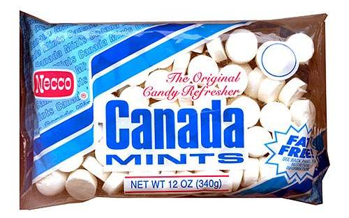 NECCO's popular Canada Mints range.