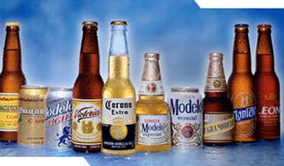Grupo Modelo's range of beers.