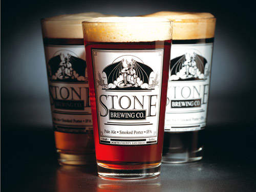 Stone Brewing Co. produces a wide range of ales, such as Arrogant Bastard Ale.