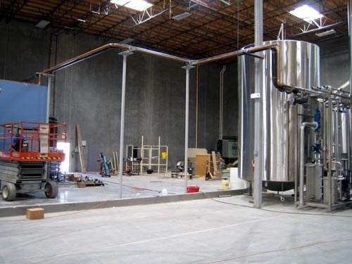 The brewery is designed to be run from a single computer control room and also via portable touch screen interfaces.