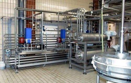 Milk processing equipment.