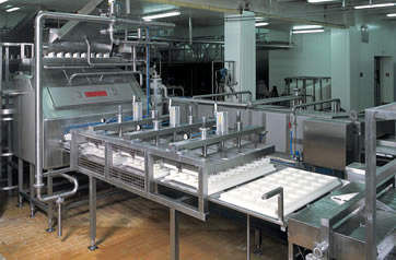 Alpma cheese moulding machinery.