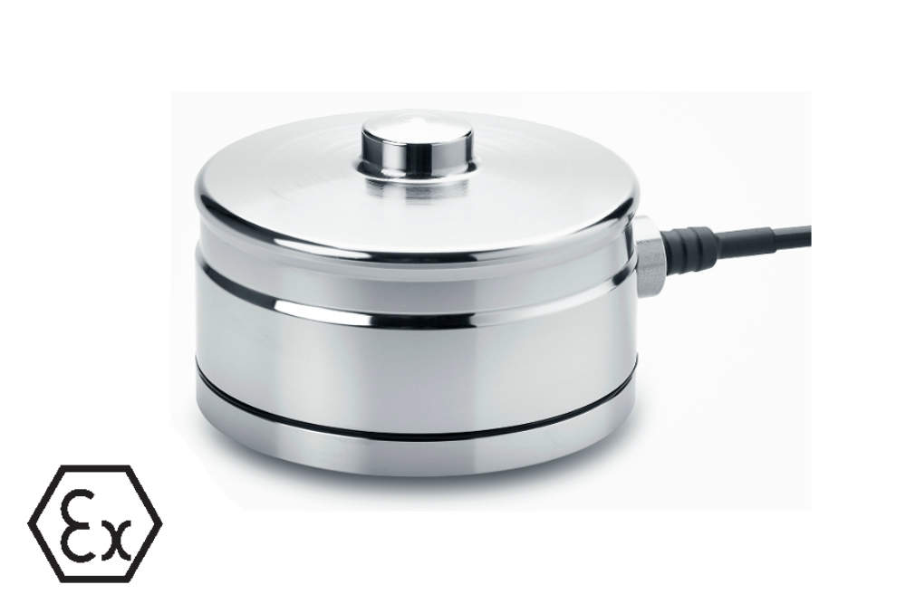 Eilersen digital compression load cell with hygienic base plate.