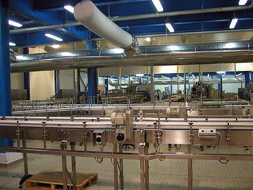 The production line at IGI Beyti's dairy.