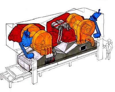 Barrel coating system from APV Baker.