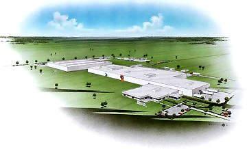 An artist's rendering of the Nestlé plant in Jonesboro, Arkansas.