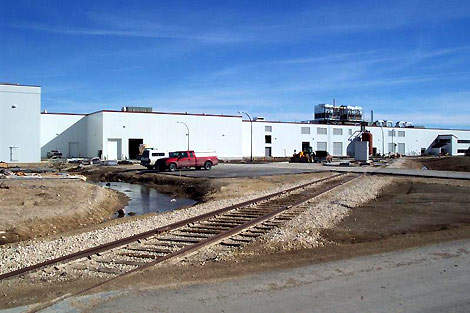 Simplot's potato processing plant on the Bluff Industrial Park site.