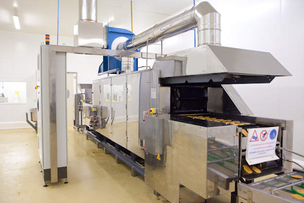 industrial waffle manufacture