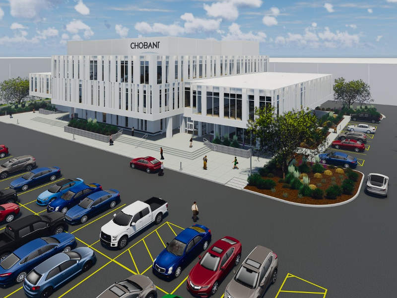 Chobani's new facility will include a global research and development centre (R&D) for product testing. Credit: PRNewsfoto / Chobani, LLC.