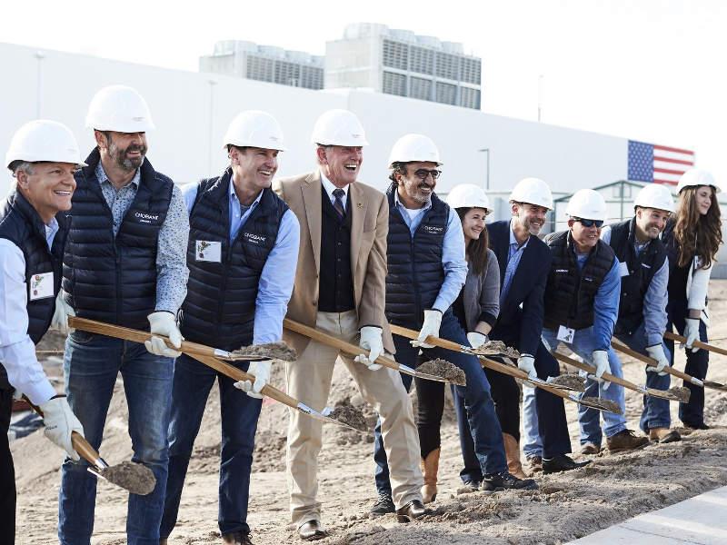 Foundation stone was laid for the new facility in November 2017. Image: PRNewsfoto/Chobani, LLC.