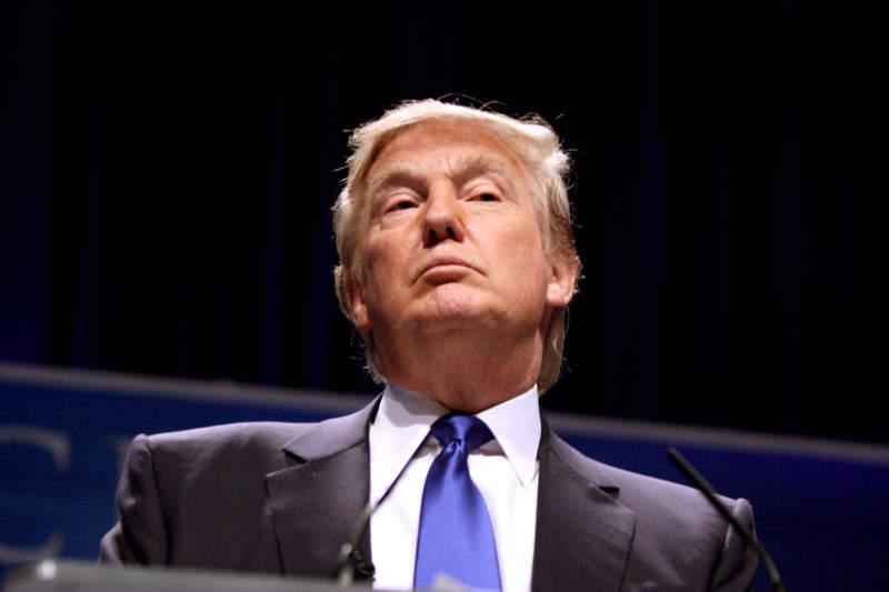 trump looking down