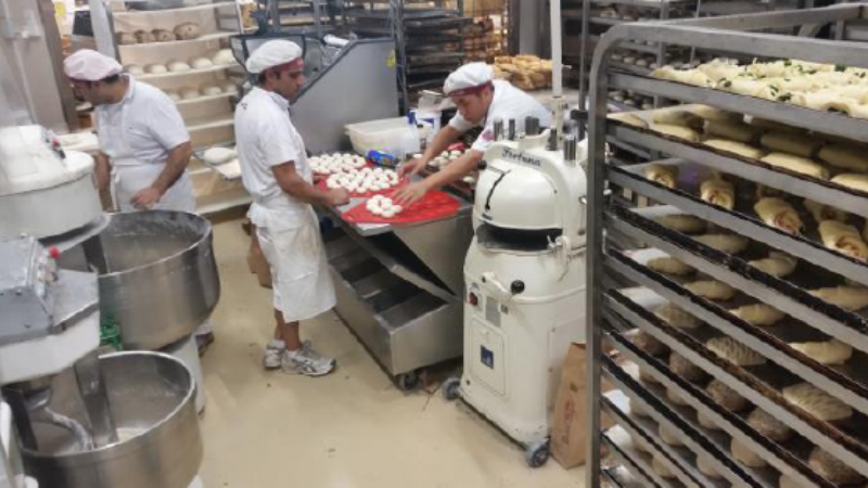 large commercial bakeries