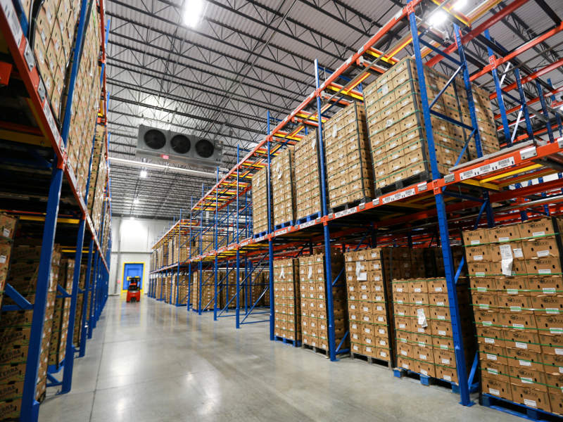 The 60,000ft² facility includes 2,600 pallet positions. Image courtesy of Index Fresh.