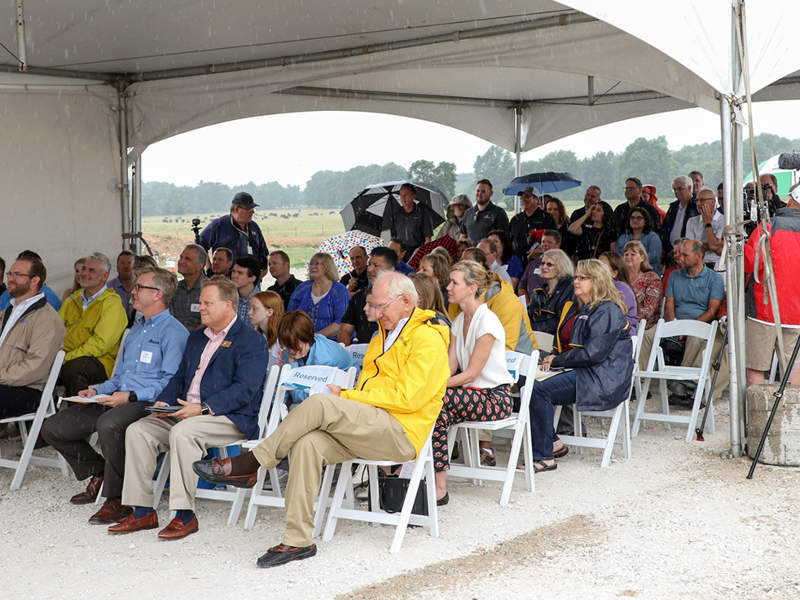 Simmons hosted a site dedication ceremony of the new Benton County facility in June 2018. Image courtesy of Simmons Foods, Inc. & Affiliates.