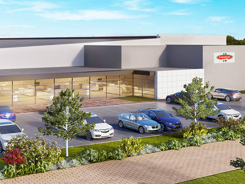 The new facility in Melbourne will double D'Orsogna's production capacity. Image courtesy of Gibson Property Corporation.