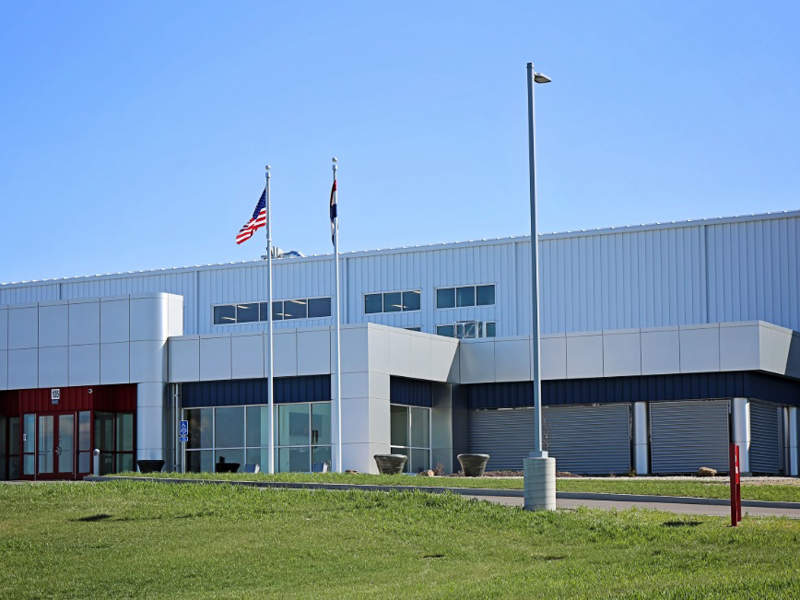 The new manufacturing facility includes manufacturing and office space. Image courtesy of Washington Engineering & Architecture (WEA).
