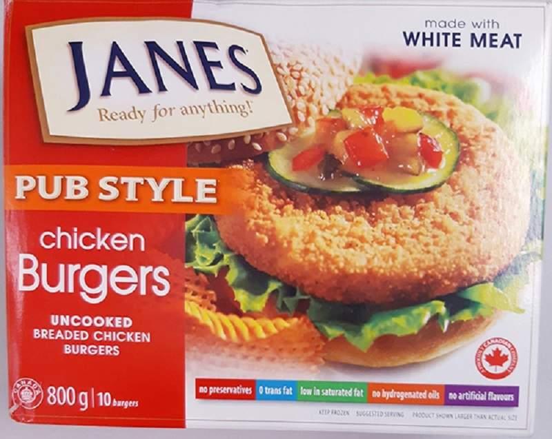 Janes Pub Style Chicken Burgers