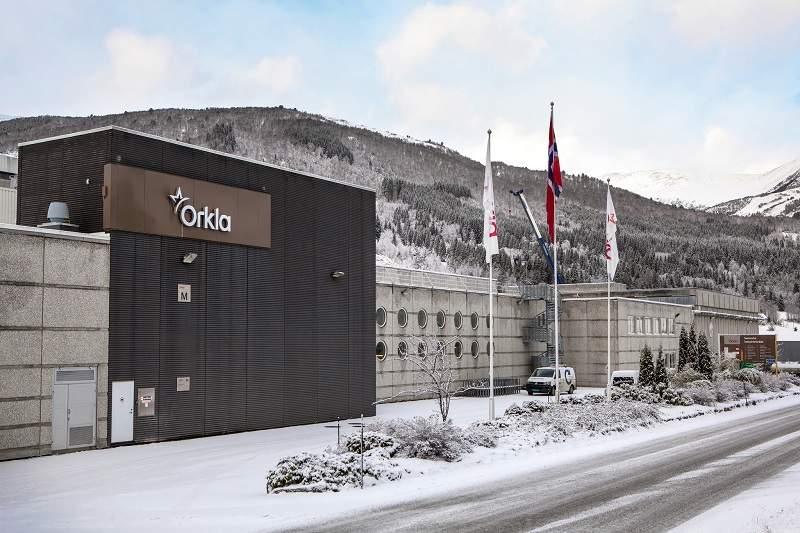 Orkla's factory in Stranda, Norway