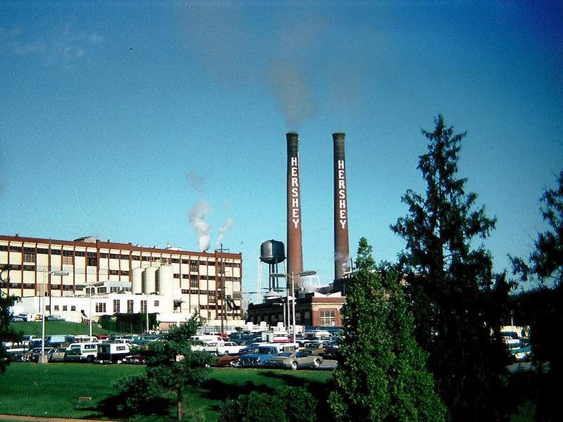Hershey Chocolate Factory in Hershey, Pennsylvania.