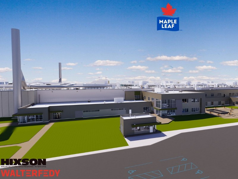 Hixson and WalterFedy will provide design and engineering services for the new chicken processing facility. Image courtesy of CNW Group/Maple Leaf Foods.