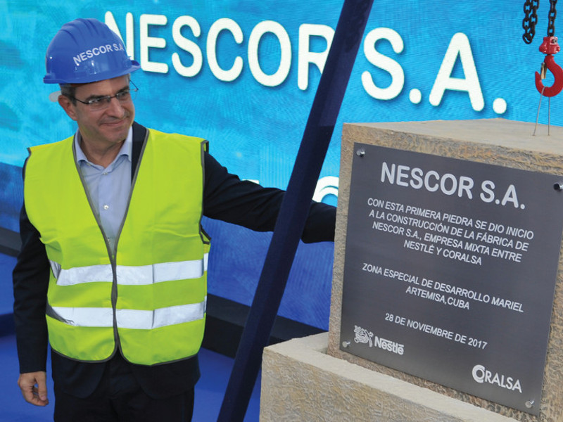 NESCOR's new food production plant is being developed in Mariel Special Development Zone in Cuba. Image courtesy of Nestlé.