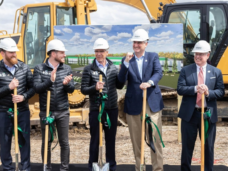 Ground-breaking ceremony of Greenleaf Foods' new plant-based protein facility in Shelbyville was held in April 2019. Image courtesy of CITY OF SHELBYVILLE, INDIANA.