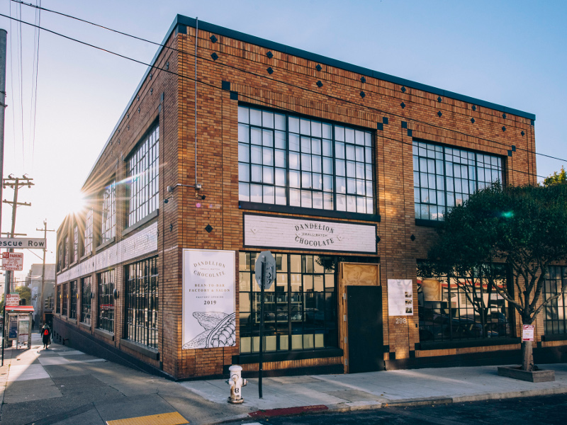 Dandelion Chocolate's third factory in San Francisco was opened in April 2019. Image courtesy of Dandelion Chocolate.