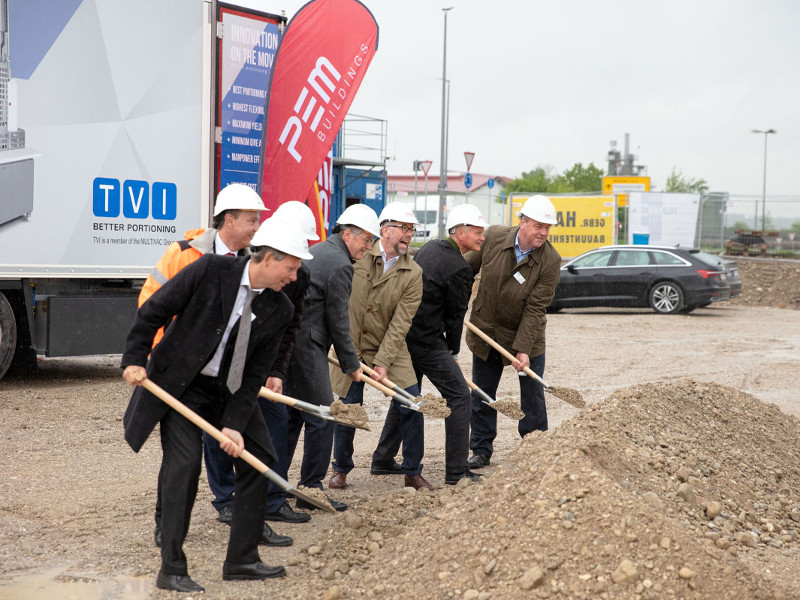 TVI is constructing its new centre of excellence for meat portioning in Bruckmühl, Germany. Image courtesy of Multivac.