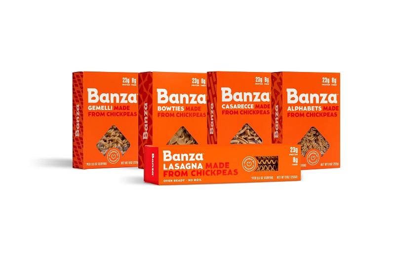 Banza uses chickpeas to produce a wide range of pastas. Credit: Banza.