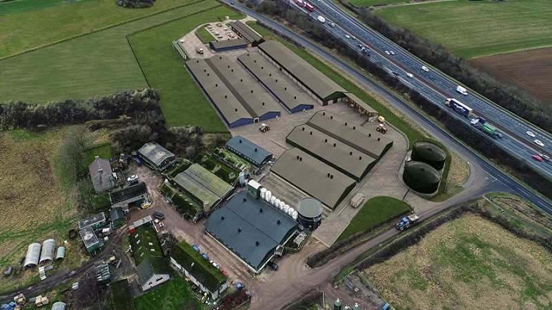 Aerial view of the National Pig Centre in the UK. Credit: University of Leeds.