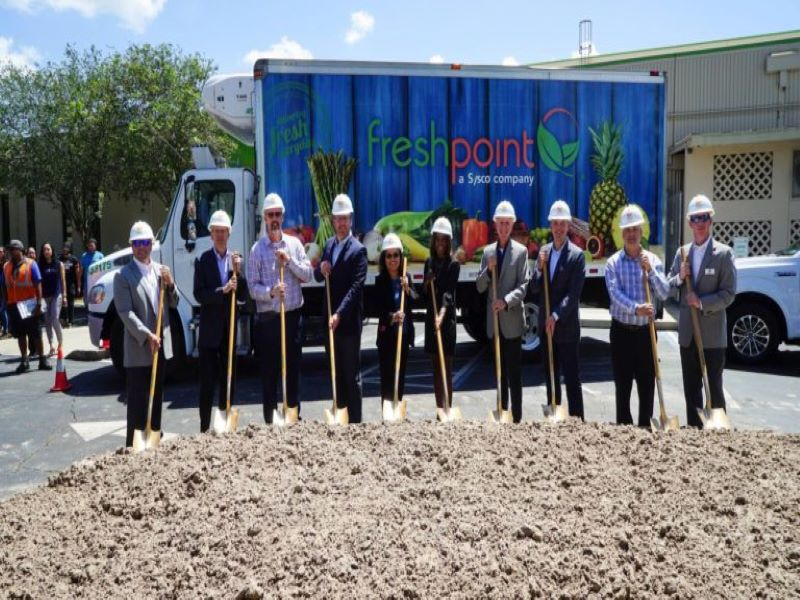 The ground-breaking ceremony of the new facility was held in May 2018. Credit: FreshPoint Inc.