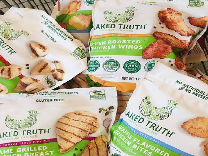 The Global Animal Partnership (GAP) Step-2 rated NAKED TRUTH® products are available in more than 270 stores of US supermarket chain Harris Teeter. Credit: Wayne Farms, LLC.
