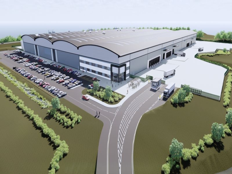 The new facility will occupy an area of 158,000ft². Credit: Tritax Symmetry.