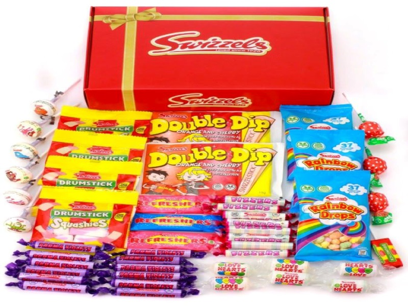 The company offers sweet hampers for personal and corporate events. Credit: Swizzels Matlow.
