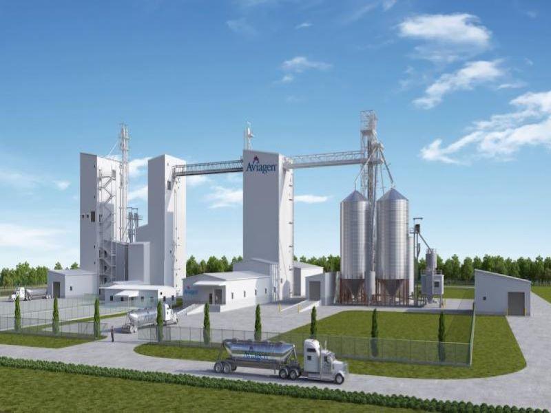 Aviagen's Feed Processing Facility
