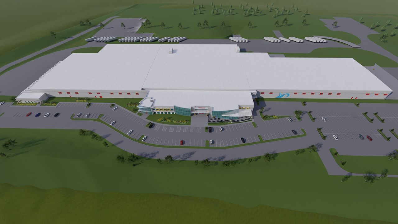 Bell & Evans' new chicken harvesting facility is being built on an area of 411,500ft². Credit: Bell & Evans.
