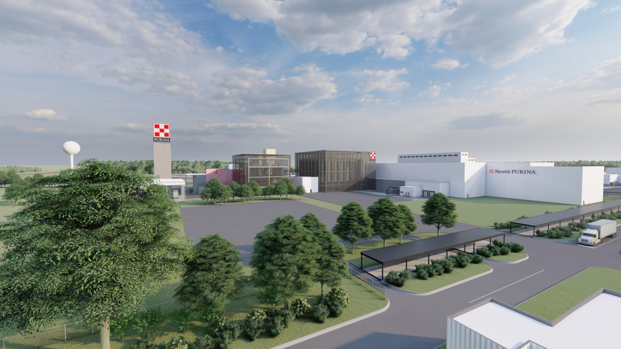 Nestle Purina Petcare is building a new pet food manufacturing facility in North Carolina, US. Credit: Nestle Purina PetCare.
