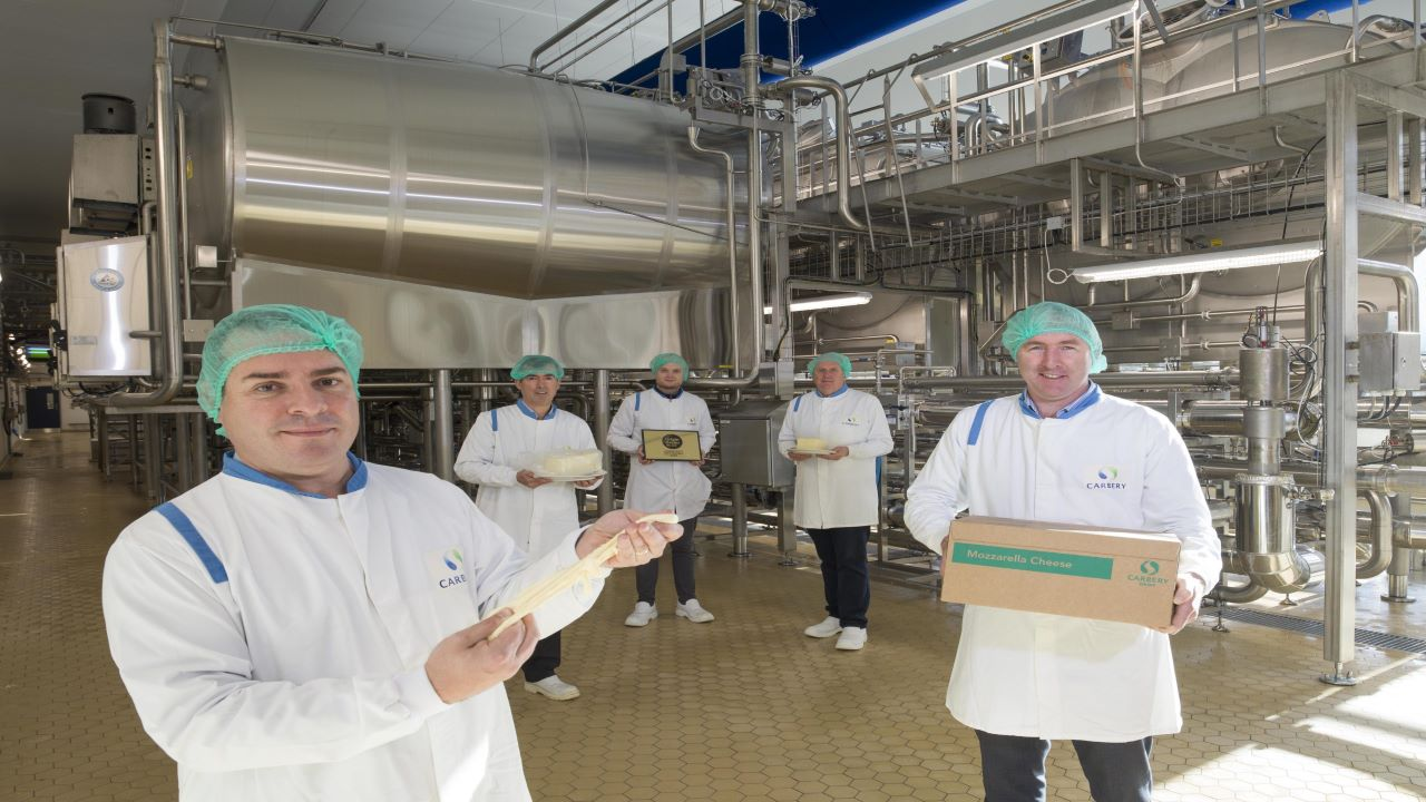 The new production facility produces mozzarella and grilling cheese. Credit: Carbery Food Ingredients Limited.