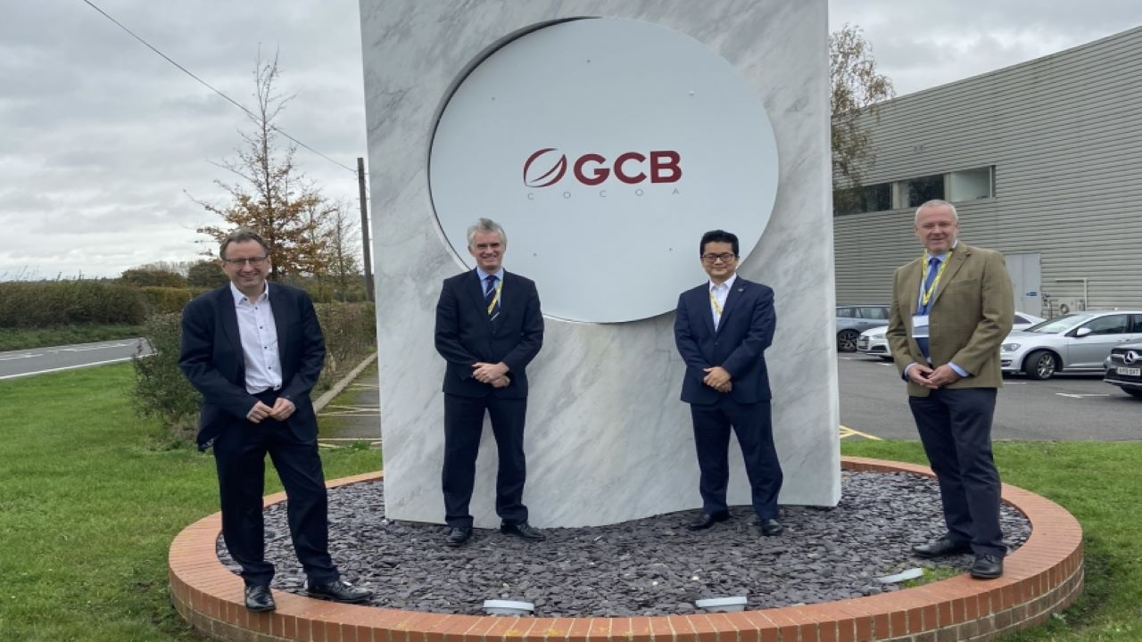 GCB's cocoa manufacturing facility in Glemsford is expected to be commissioned in the second half of 2021. Image courtesy of James Cartlidge MP for South Suffolk.
