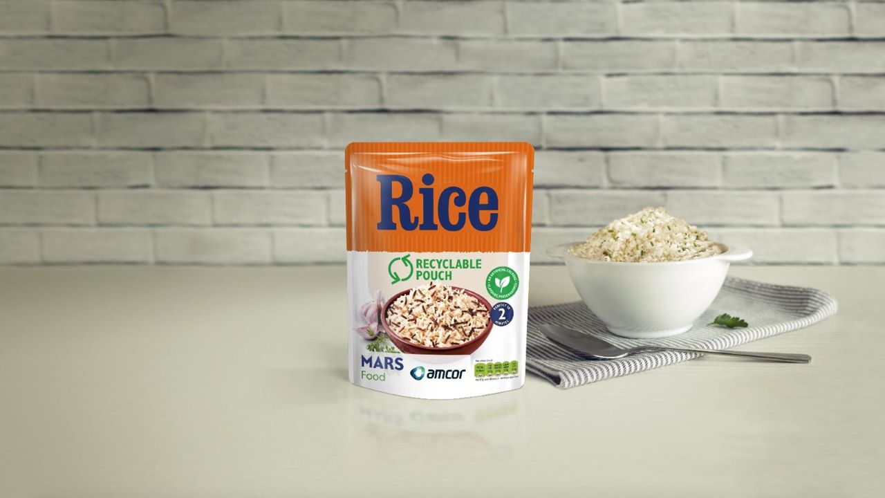 Mars Food intends to launch a mono-material microwavable rice pouch in 2021. Credit: Mars, Incorporated and its Affiliates.