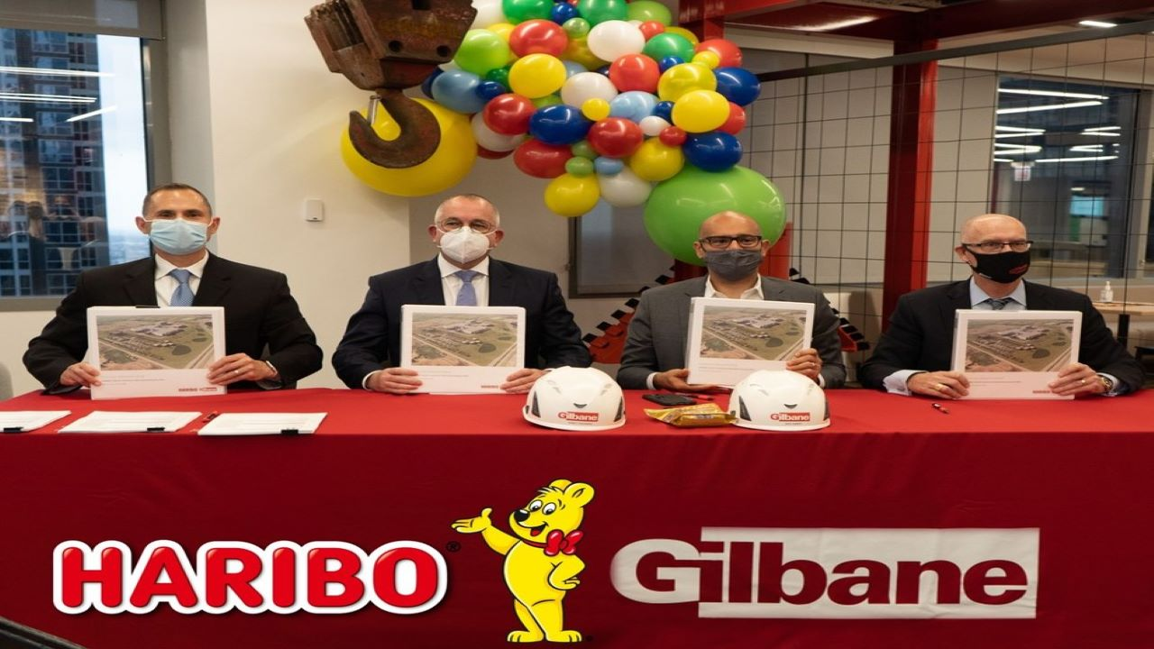 HARIBO announced Gilbane Building Company as the general contractor for the Pleasant Prairie project in October 2020. Image courtesy of HARIBO.