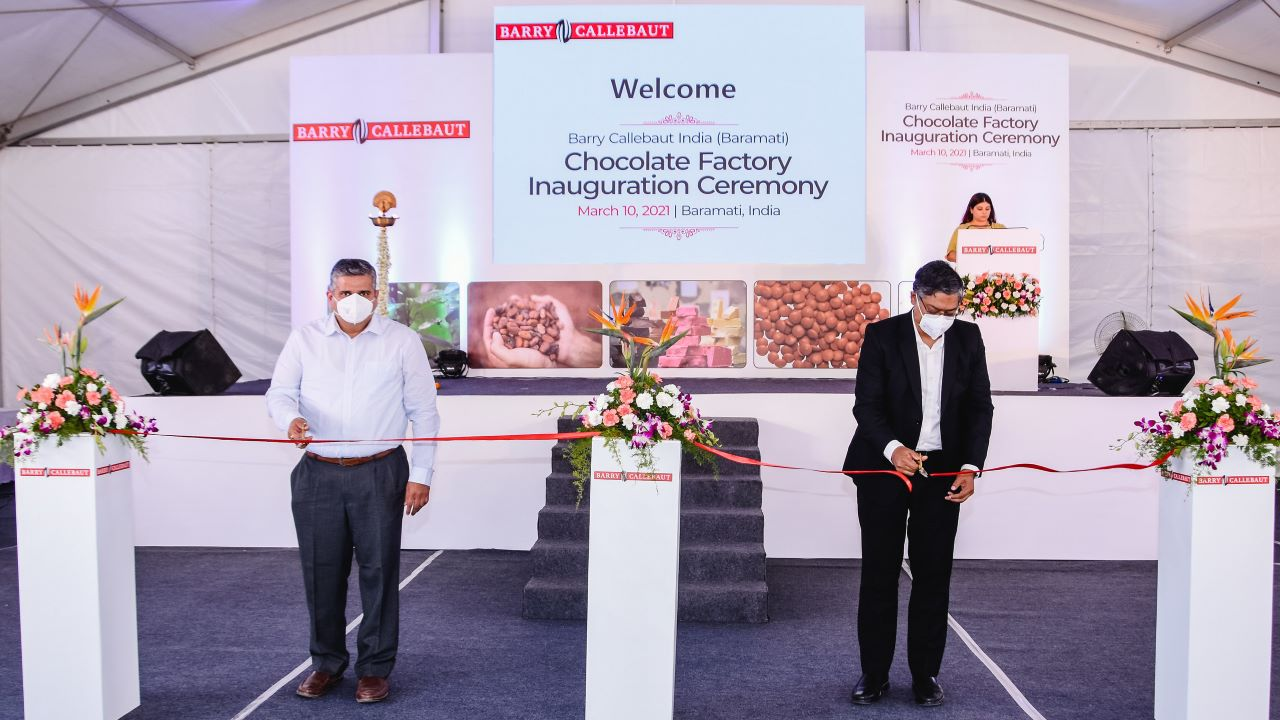 The Baramati chocolate factory was officially opened in March 2021. Credit: Barry Callebaut.