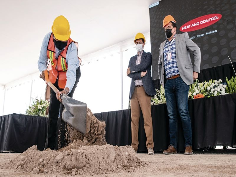 The ground-breaking ceremony for the new facility was held in April 2021. Credit: Heat and Control.