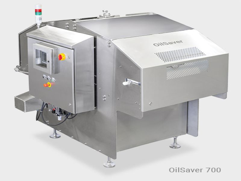 The OilSaver Filtration System in the oil management system line-up extends the life of frying oil with continuous high efficiency filtration down to ten microns. Credit: Heat and Control.