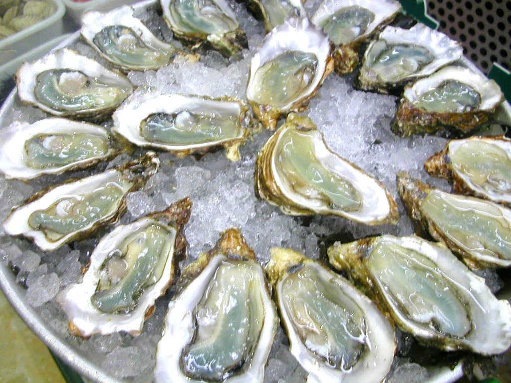 British-grown oysters