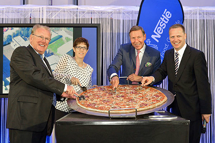 The facility opened as part of the expansion of Nestlé's global frozen pizza business