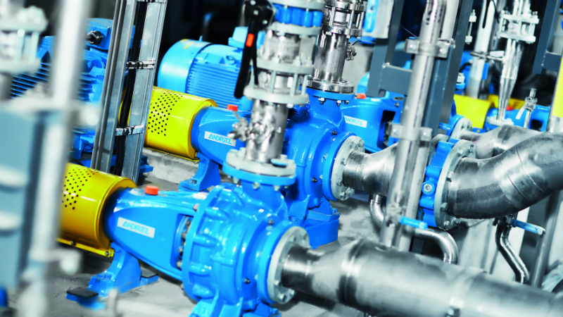 Single-stage spiral casing pumps