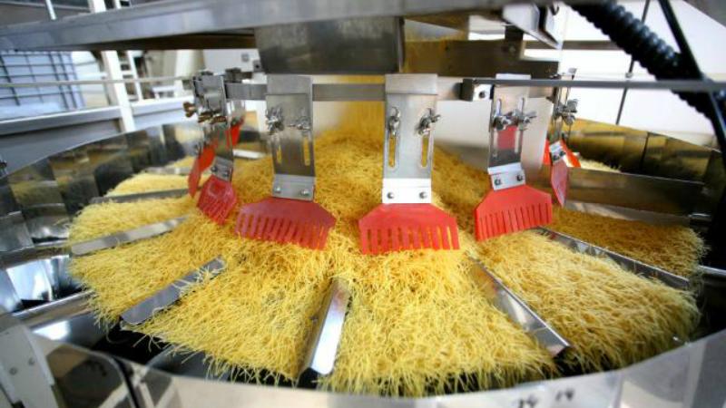 Pasta multihead weighing.