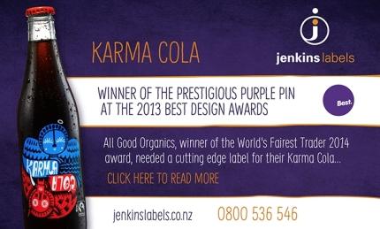 Jenkins Labels Karma Cola